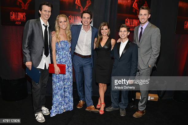 Travis Cluff Cassidy Gifford Reese Mishler Pfeifer Brown Chris Lofing and Ryan Shoos attend THE GALLOWS Fresno Hometown Screening on June 30 2015 in...