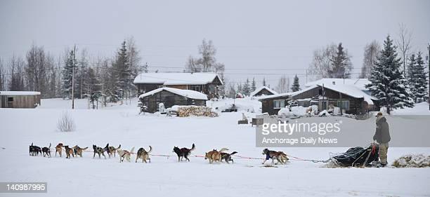 Travis Cooper leaves the checkpoint in Nikolai Alaska during the Iditarod Trail Sled Dog Race on Wednesday March 7 2012