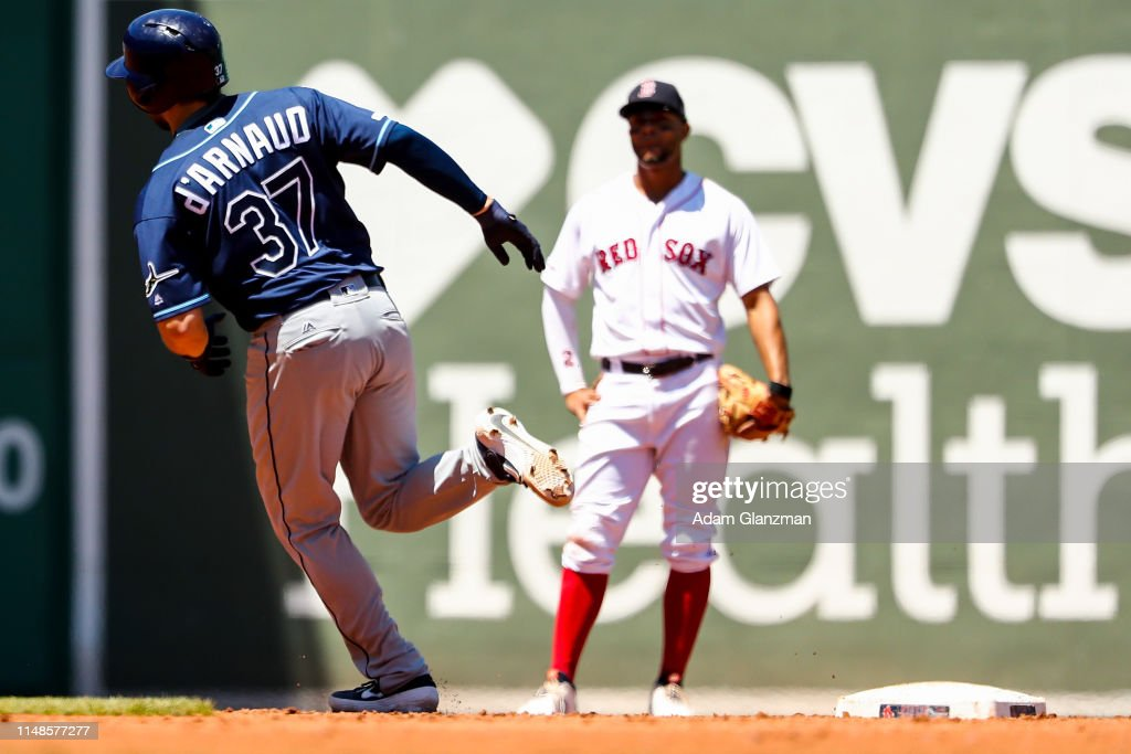 Tampa Bay Rays v Boston Red Sox - Game One : News Photo