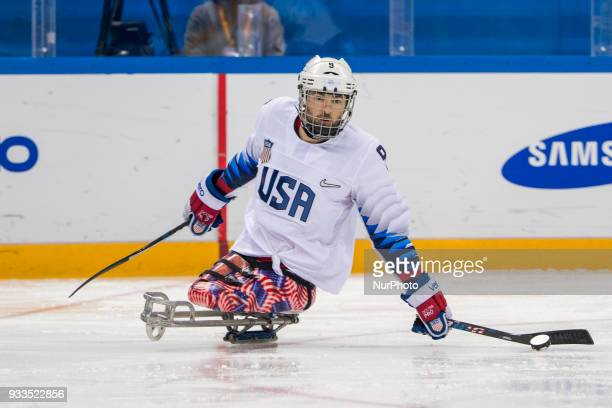 Travis DODSON during The Ice Hockey gold medal game between Canada and United States during day nine of the PyeongChang 2018 Paralympic Games on...