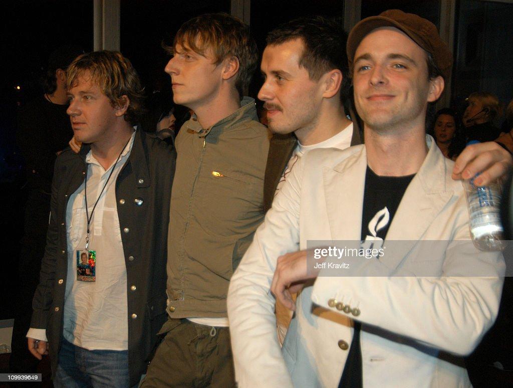 Travis during MTV Europe Music Awards 2003 - Arrivals at Ocean Terminal Arena in Edinburgh, Scotland.