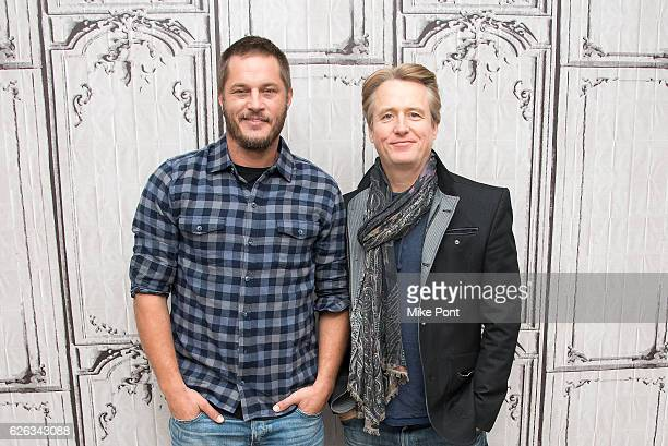 Travis Fimmel and Linus Roache attend the Build Series to discuss 'Vikings' at AOL HQ on November 28 2016 in New York City