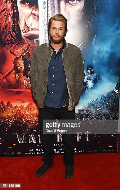 Travis Fimmel attends a special screening of 'Warcraft The Beginning' at BFI IMAX on May 25 2016 in London England