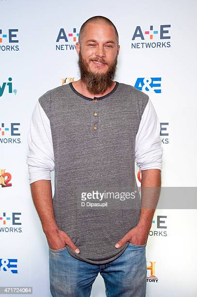 Travis Fimmel attends AE Network's 2015 Upfront at Park Avenue Armory on April 30 2015 in New York City