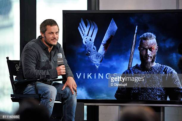 Travis Fimmel attends AOL Build Speaker Series Travis Fimmel Vikings at AOL Studios In New York on February 18 2016 in New York City