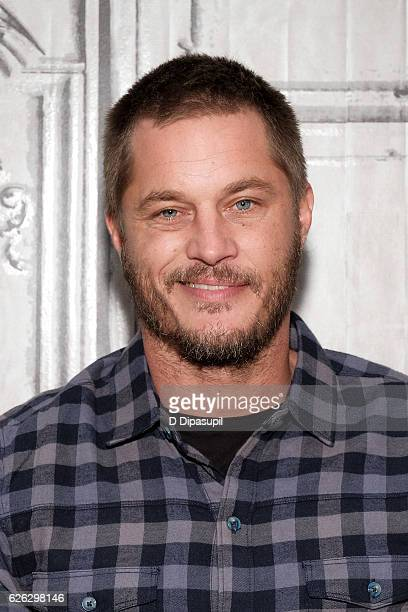 Travis Fimmel attends the Build Series to discuss 'Vikings' at AOL HQ on November 28 2016 in New York City