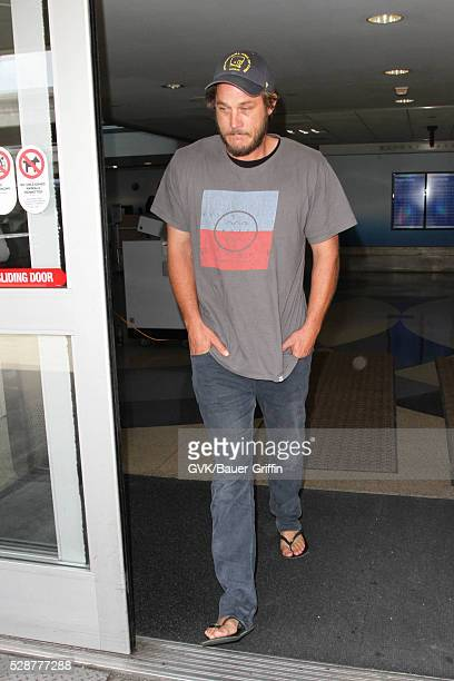 Travis Fimmel is seen at LAX on May 07 2016 in Los Angeles California