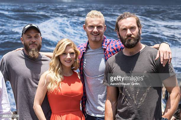 Travis Fimmel Katheryn Winnick Alexander Ludwig and Clive Standen are seen at fan meet and greet at ComicCon on July 25 2014 in San Diego California