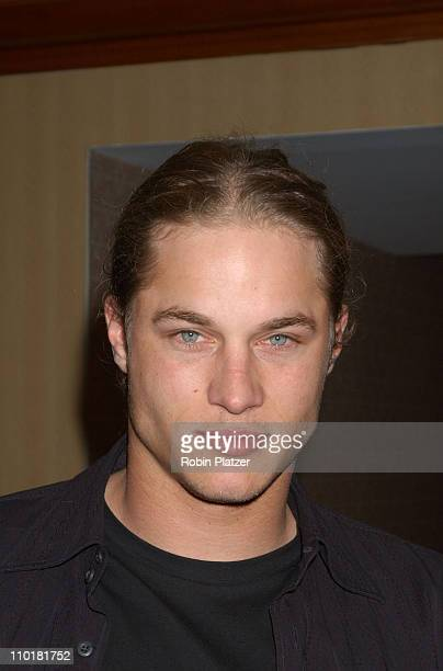 Travis Fimmel of 'Tarzan Jane' during WB Television Network 2003 2004 Upfront Presentation at Sheraton Hotel in New York NY United States