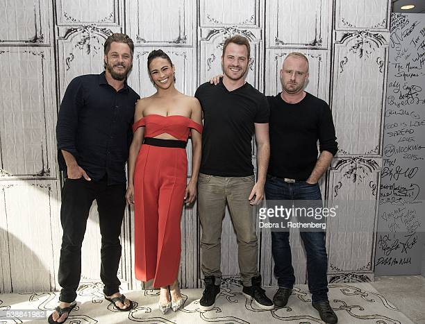Travis Fimmel Paula Patton Rob Kazinsky and Ben Foster attend the AOL Speaker Series to discuss 'Warcraft' at AOL Studios In New York on June 8 2016...