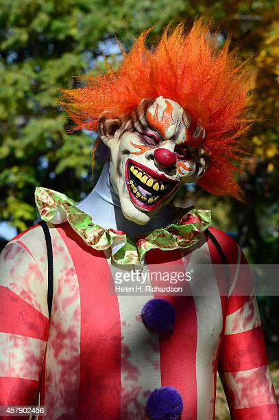 Travis Fleming came dressed at a killer clown to the 30th annual Boo at the Zoo halloween event at the Denver Zoo in Denver CO on October 26 2014 The...