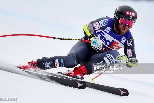 Travis Ganong of the United States competes in the Audi Birds of Prey World Cup Men's Super G on December 1 2017 in Beaver Creek Colorado
