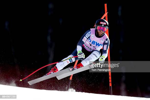 Travis Ganong of the United States competes in the Audi Birds of Prey World Cup Men's Downhill on December 2 2017 in Beaver Creek Colorado