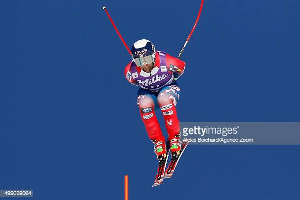 Travis Ganong of the US competes during the Audi FIS Alpine Ski World Cup Men's Downhill on November 28 2015 in Lake Louise Canada