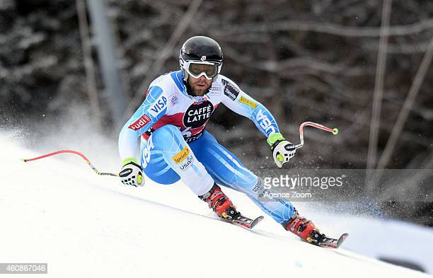 Travis Ganong of the USA competes during the Audi FIS Alpine Ski World Cup Men's Downhill on December 28 2014 in Santa Caterina Valfurva Italy