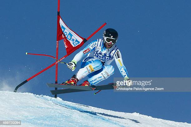 Travis Ganong of the USA in action during the Audi FIS Alpine Ski World Cup Men's Downhill on November 29 2014 in Lake Louise Canada