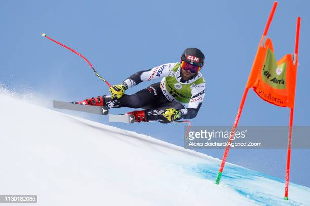 Travis Ganong of USA competes during the Audi FIS Alpine Ski World Cup Men's and Women's Downhill on March 13 2019 in Soldeu Andorra