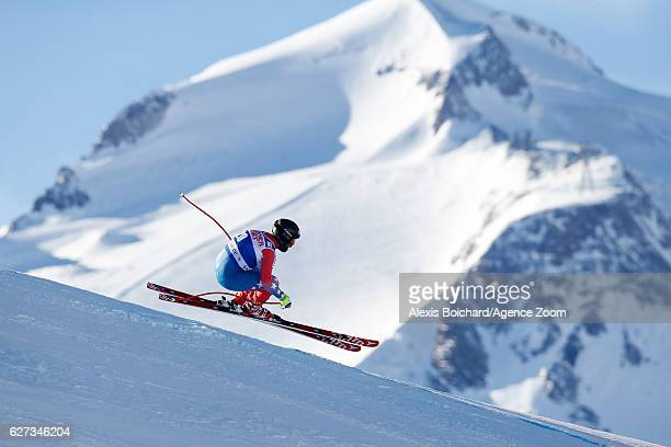 Travis Ganong of USA competes during the Audi FIS Alpine Ski World Cup Men's Downhill on December 3 2016 in Val d'Isere France