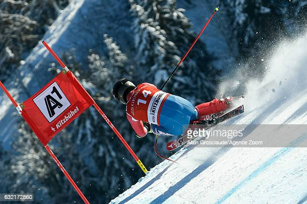 Travis Ganong of USA competes during the Audi FIS Alpine Ski World Cup Men's SuperG on January 20 2017 in Kitzbuehel Austria