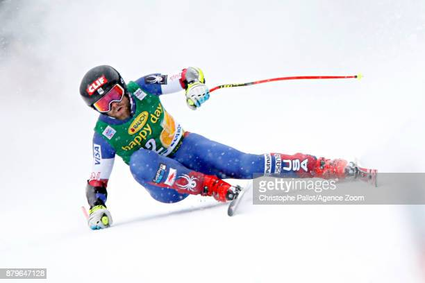 Travis Ganong of USA competes during the Audi FIS Alpine Ski World Cup Men's Super G on November 26 2017 in Lake Louise Canada