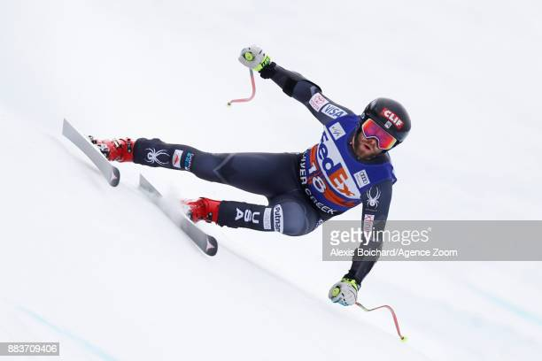 Travis Ganong of USA competes during the Audi FIS Alpine Ski World Cup Men's Super G on December 1 2017 in Beaver Creek Colorado
