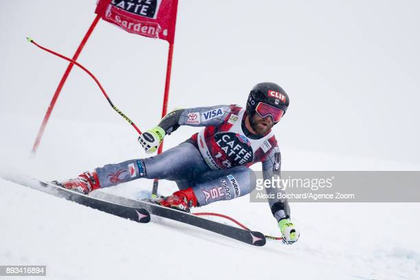 Travis Ganong of USA competes during the Audi FIS Alpine Ski World Cup Men's Super G on December 15 2017 in Val Gardena Italy