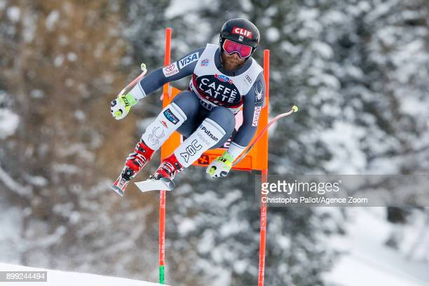 Travis Ganong of USA competes during the Audi FIS Alpine Ski World Cup Men's Downhill on December 28 2017 in Bormio Italy