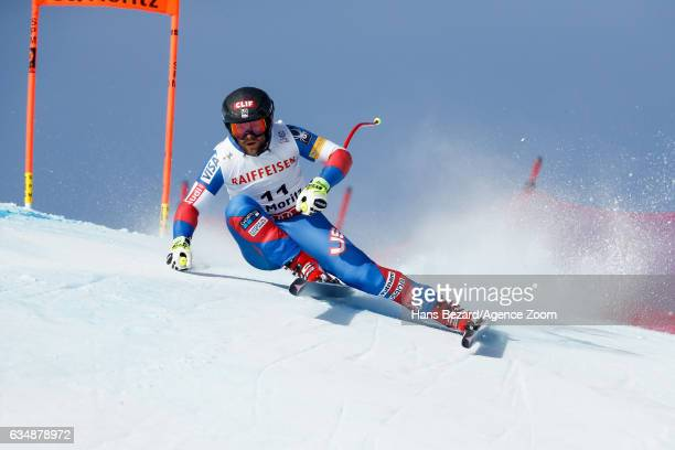 Travis Ganong of USA competes during the FIS Alpine Ski World Championships Men's Downhill on February 12 2017 in St Moritz Switzerland