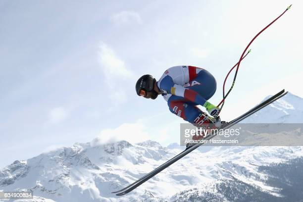 Travis Ganong of USA competes in the Men's Downhill during the FIS Alpine World Ski Championships on February 12 2017 in St Moritz Switzerland