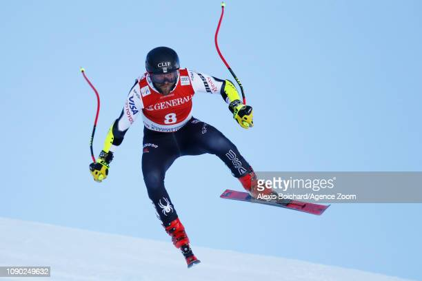 Travis Ganong of USA in action during the Audi FIS Alpine Ski World Cup Men's Super G on January 27 2019 in Kitzbuehel Austria