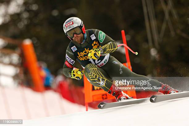 Travis Ganong of USA in action during the Audi FIS Alpine Ski World Cup Men's Downhill on December 27, 2019 in Bormio Italy.