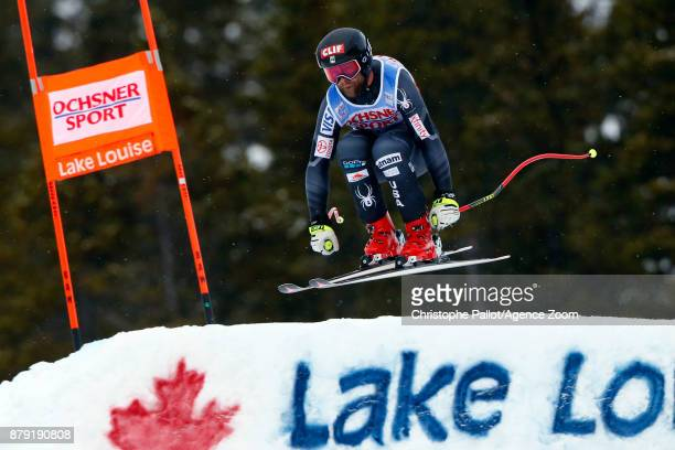 Travis Ganong of USA in action during the Audi FIS Alpine Ski World Cup Men's Downhill on November 25 2017 in Lake Louise Canada