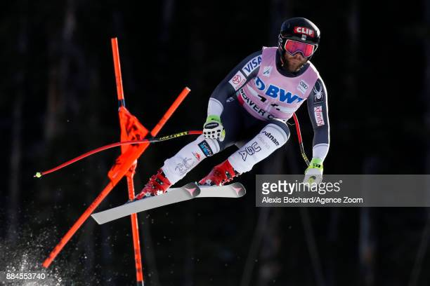 Travis Ganong of USA in action during the Audi FIS Alpine Ski World Cup Men's Downhill on December 2 2017 in Beaver Creek Colorado