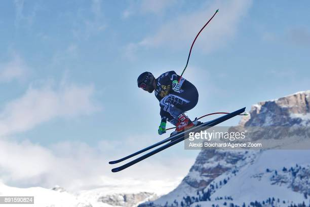Travis Ganong of USA in action during the Audi FIS Alpine Ski World Cup Men's Downhill Training on December 13 2017 in Val Gardena Italy