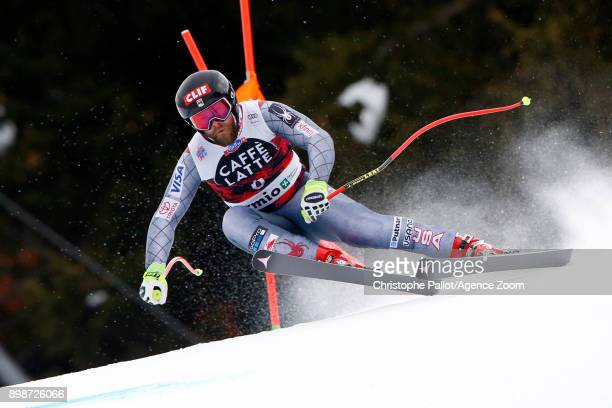 Travis Ganong of USA in action during the Audi FIS Alpine Ski World Cup Men's Downhill Training on December 26 2017 in Bormio Italy