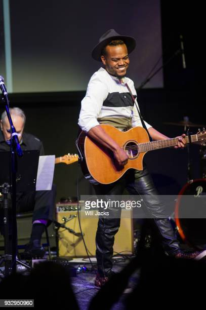Travis Greene performs at GRAMMY Museum Mississippi on March 16 2018 in Cleveland Mississippi