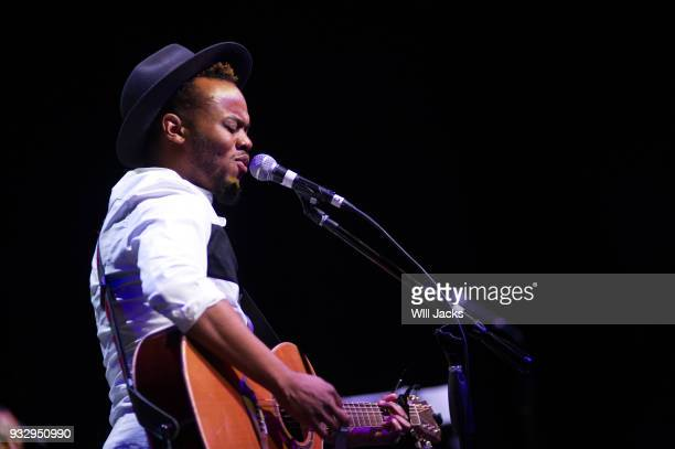 Travis Greene sings 'A Change is Gonna Come' at GRAMMY Museum Mississippi on March 16 2018 in Cleveland Mississippi