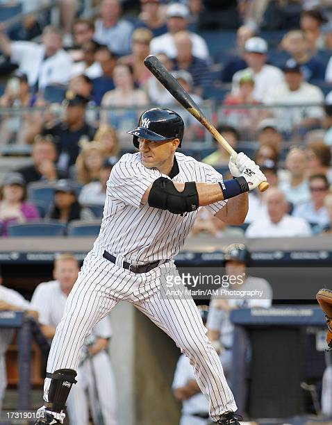 Travis Hafner of the New York Yankees bats against the Baltimore Orioles at Yankee Stadium on July 5 2013 in the Bronx borough of New York City