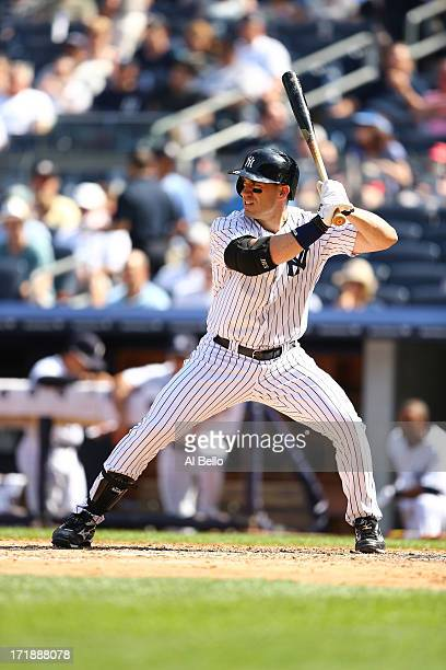 Travis Hafner of the New York Yankees in action against the Tampa Bay Rays during their game on June 23 2013 at Yankee Stadium in the Bronx borough...