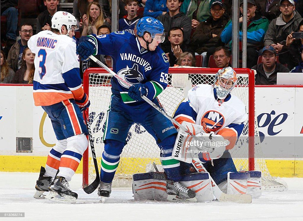 New York Islanders v Vancouver Canucks