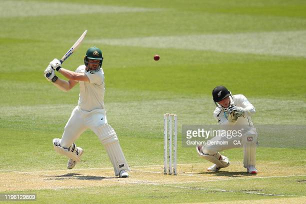 Travis Head of Australia bats during day two of the Second Test match in the series between Australia and New Zealand at Melbourne Cricket Ground on...