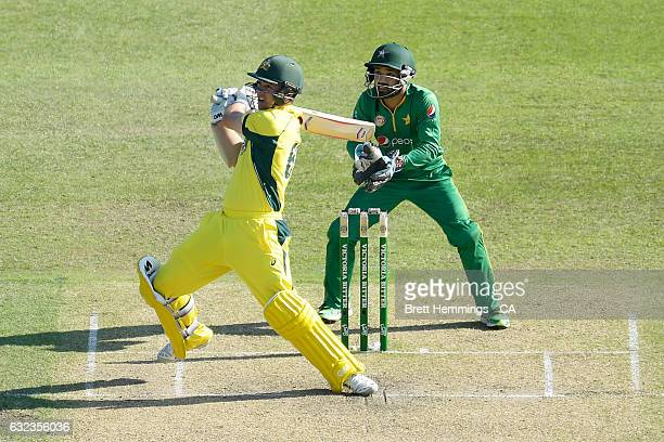 Travis Head of Australia bats during game four of the One Day International series between Australia and Pakistan at Sydney Cricket Ground on January...