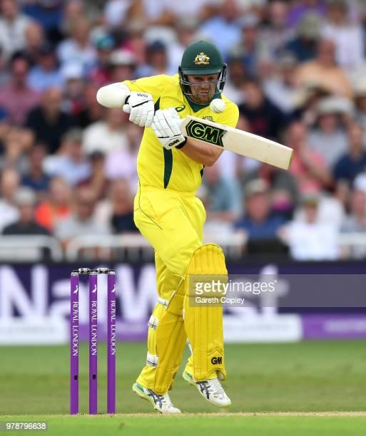 Travis Head of Australia bats during the 3rd Royal London ODI match between England and Australia at Trent Bridge on June 19 2018 in Nottingham...