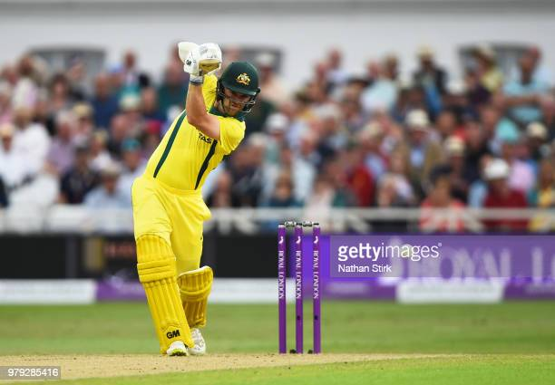 Travis Head of Australia batting during the 3rd Royal London ODI match between England and Australia at Trent Bridge on June 19 2018 in Nottingham...