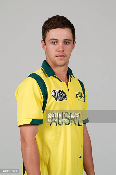 Travis Head of Australia poses during a ICC U19 Cricket World Cup 2012 portrait session at Allan Border Field on August 5 2012 in Brisbane Australia