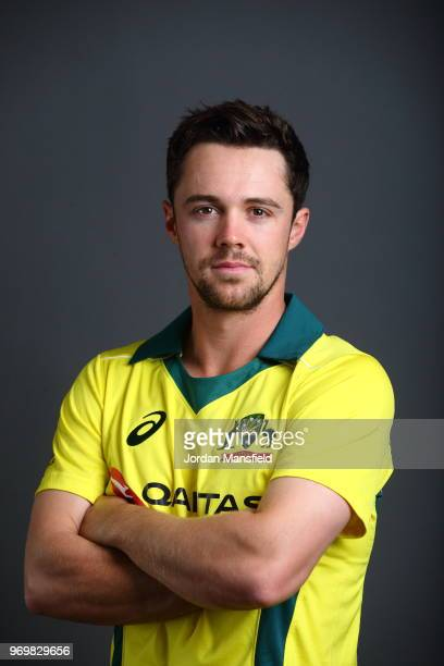 Travis Head of Australia poses for a portrait at Lord's Cricket Ground on June 8 2018 in London England