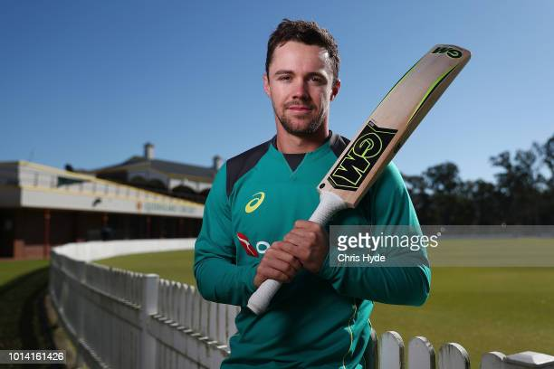 Travis Head poses for a portrait before an Australia A training session at Allan Border Field on August 10 2018 in Brisbane Australia