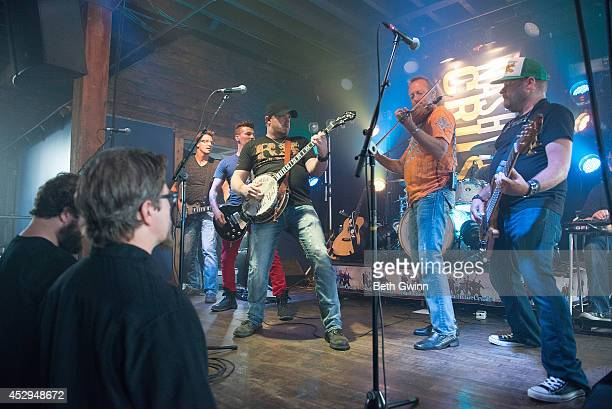 Travis Hortsman, Marshall Miller, Brad Wright, Mike Wright, and Dean Maag perform at the Nashville Crush showcase at The High Watt on July 30, 2014...