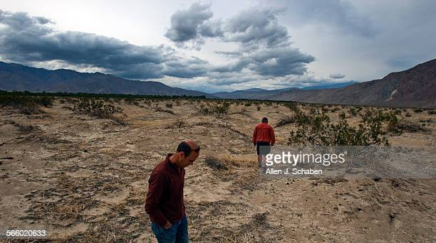 Travis Huxman director of UC Irvine's Steele/Burnand AnzaBorrego Desert Research Center left and Jim Dice reserve manager for the center inspect an...