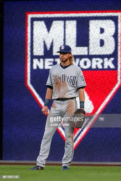 Travis Jankowski of the San Diego Padres in action against the Pittsburgh Pirates at PNC Park on May 17 2018 in Pittsburgh Pennsylvania Travis...